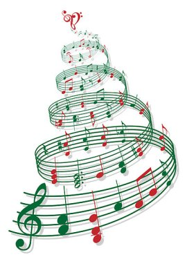 music christmas notes