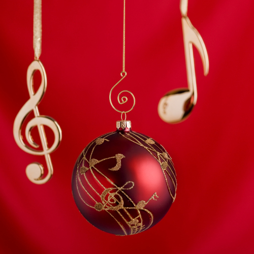 christmas music ornament