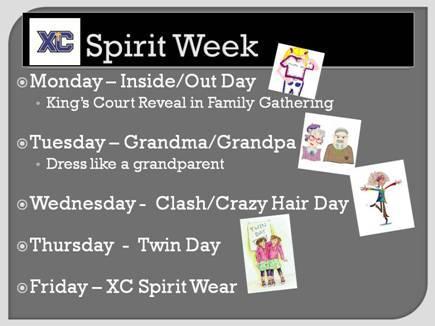 spirit week XC 2014