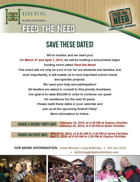 Feed the Need Save the Date