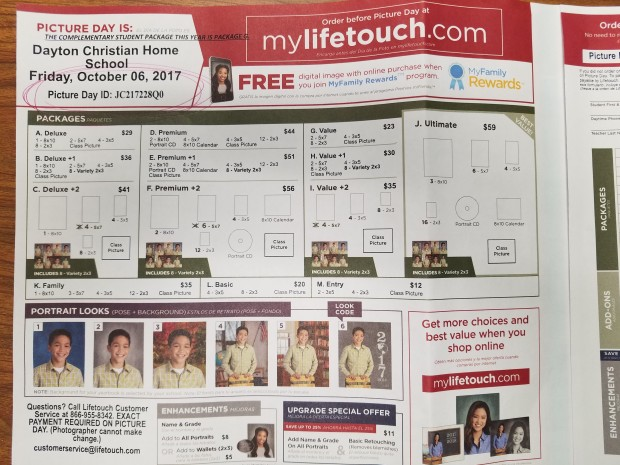 Lifetouch Form 1